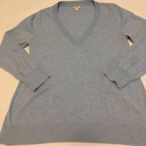 J Crew cotton sweater in light blue, size M